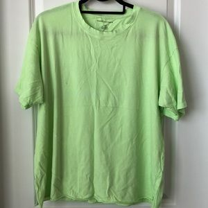 American Eagle Oversized Tee - Size S - Neon Green